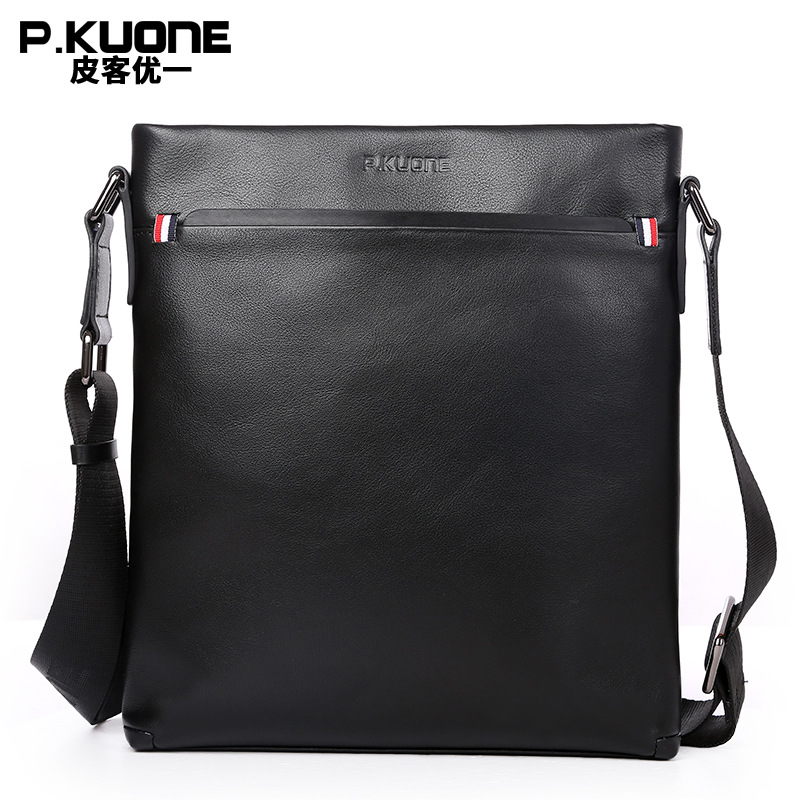 P.kuone Genuine Leather Men Bag Cow Leather Men Messenger Bags Business Casual Crossbody Shoulder Bag Men's Travel New Bags casual canvas women men satchel shoulder bags high quality crossbody messenger bags men military travel bag business leisure bag