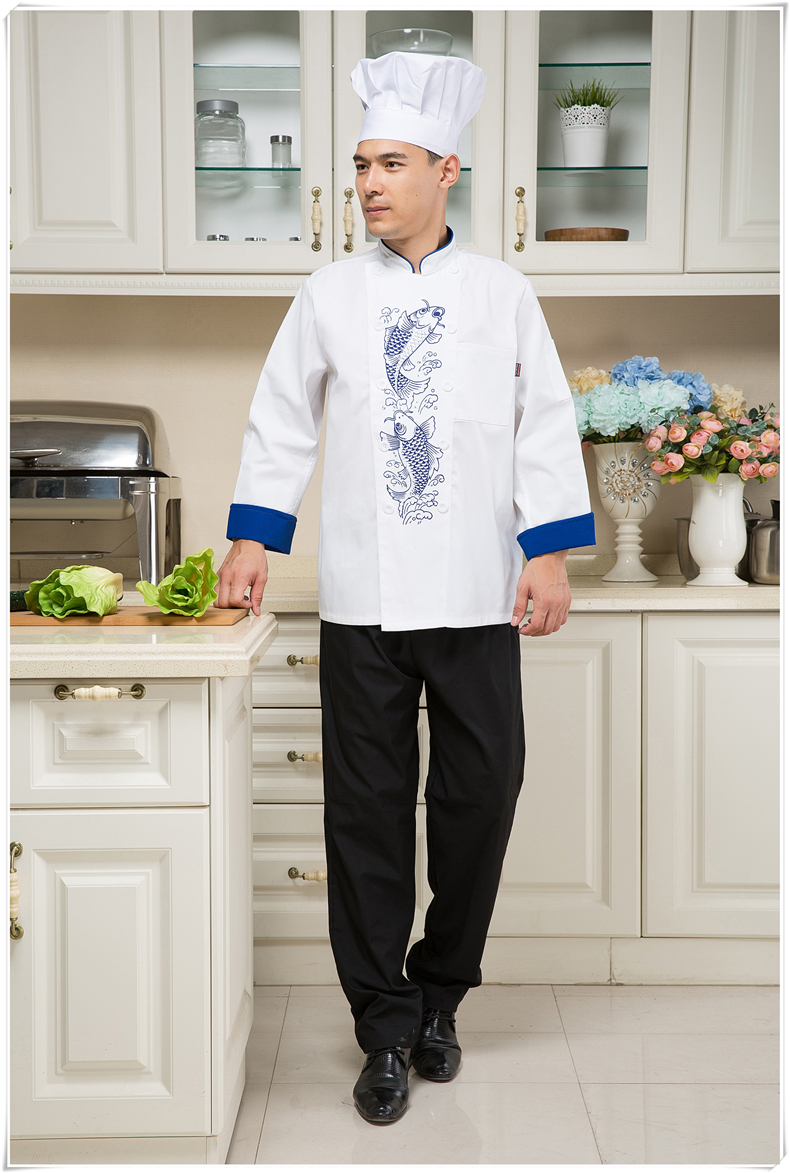 Hot Unisex Long Sleeve Cook Suit Restaurant Cook Work Wear Hotel Chef Uniforms Fashion Kitchen Chef Top Clothes YYX 204