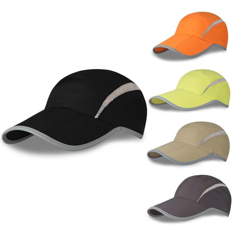 wholesale Outdoors New Hat Motion Baseball Hat Sunscreen Men Women Run Hats  mens plastic sun visor duckbill cap golf flat caps-in Visors from Men s  Clothing ... f386a8e45b70
