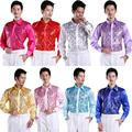 2016 new Men's glittering sequined shirt shirt stage performance clothing dance gala hosted chorus Shirts  high quality