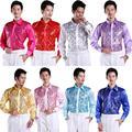2016 nuevos hombres de la camisa camisa de la ropa puesta en escena de baile de gala de lentejuelas brillantes alojado chorus Camisas de alta calidad
