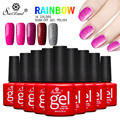 Saviland1pcs 3D Neon Lavendershiny Nail Gel Polish Soak Off Long Lasting UV Colorful Gelpolish Red Grey Gitter Varnish