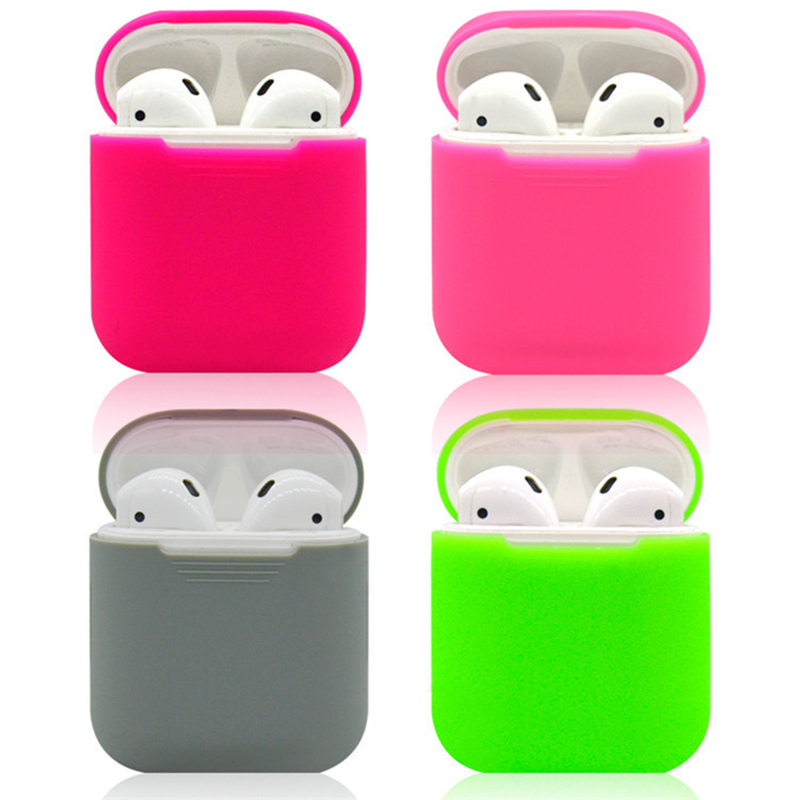 2018 New Silicone Waterproof Case For Apple Airpods Case Soft Cover Protector Sleeve for AirPods Earphone Candy Colorful Box