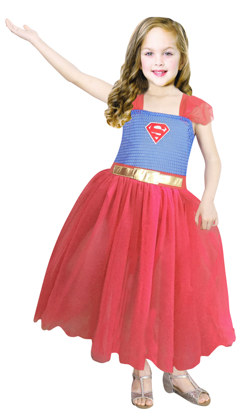 Toddler/Child Girl Superman Girl Super Girl Princess Dress Classical Girl Halloween Costume