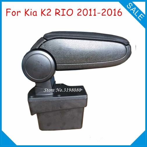 Free Shipping FOR KIA K2 RIO 2011-2016 Car ARMREST,Car Interior Accessories Parts Center Armrest Console Box Arm Rest Auto Parts 2011 2012 kia rio k2 high quality fiber leather armrest box storage box