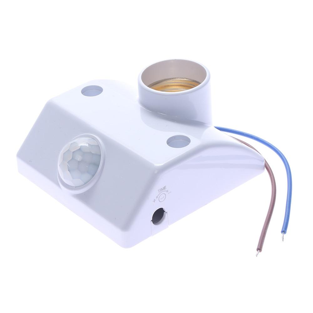 Automatic Human Body Infrared IR Sensor LED Bulb Light E27 Base PIR Motion Detector Wall Lamp Holder Socket