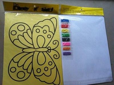 600 шт./лот, смешанный degisns_diy Цвет рисования песком комплекты для детских игрушек
