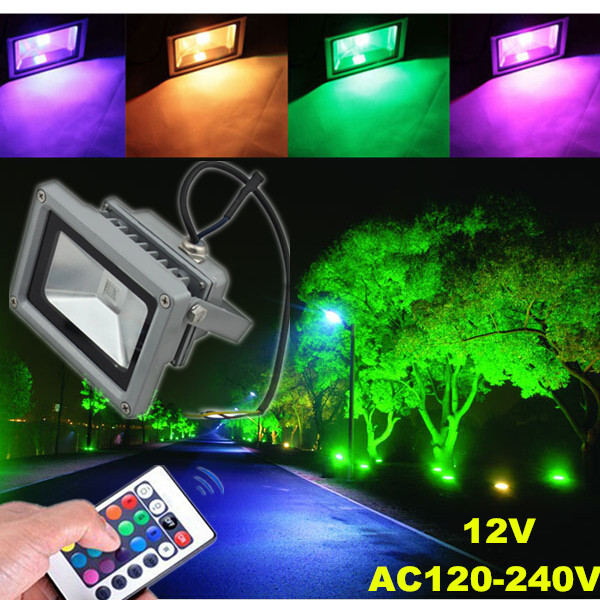 ... 10W Outdoor Garden Light Waterproof RGB Color Changing Flashlight 12  Volt Outdoor Landscape Lighting ...