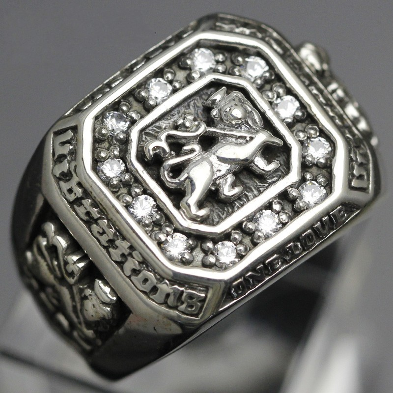 S925 sterling silver square men lion ring Thai jewelry personality domineering ring fashion men's ring s925 sterling silver vintage six buddhist mantra rotating personality ring ring and old thai silver jewelry
