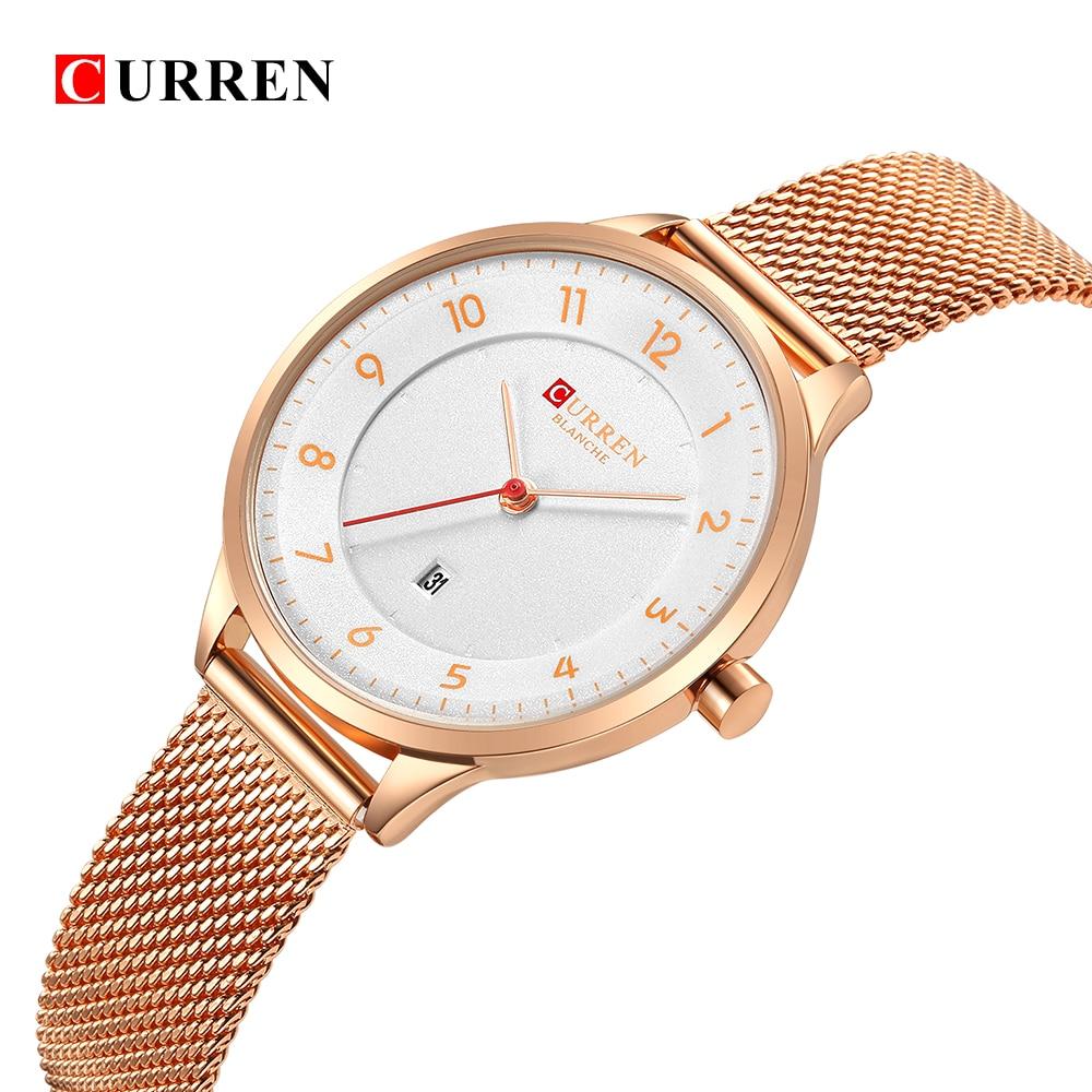 Curren 9035B Fashion women's watches Stainless Steel Gold watch women Curren Hot Selling Ladies Watch Quartz women watches curren m8113