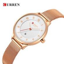 Curren 9035B mode femmes montres en acier inoxydable or montre femmes Curren vente chaude dames montre Quartz femmes montres