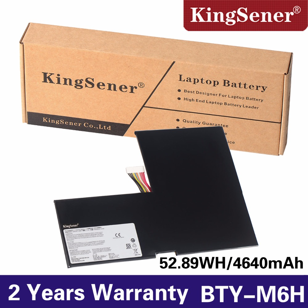 KingSener New BTY-M6F Laptop Battery For MSI GS60 MS-16H2 MS-16H4 2PL 6QE 2QE 2PE 2QC 2QD 6QC 6QC-257XCN Series 11.4V 4640mAh genuine for msi gt660r series ms 16f1 15 6 laptop touchpad bottons board w cable ms 16f1e 2
