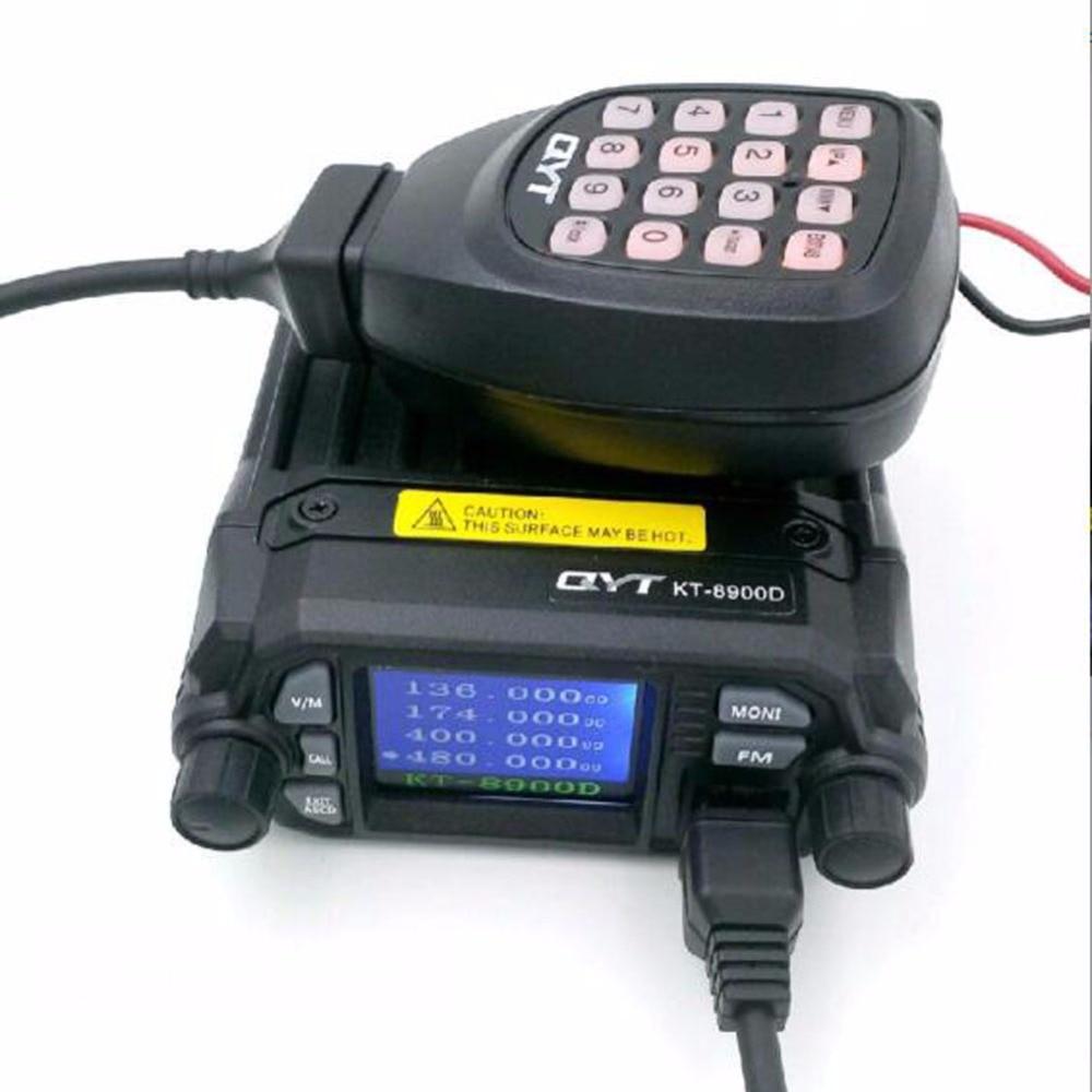 KT-7900D talkie-walkie Radio Mobile quadri-bande 25 W 144/220/350/440 MHZ 4 bandes émetteur-récepteur FM mise à niveau de l'autoradio QYT KT8900