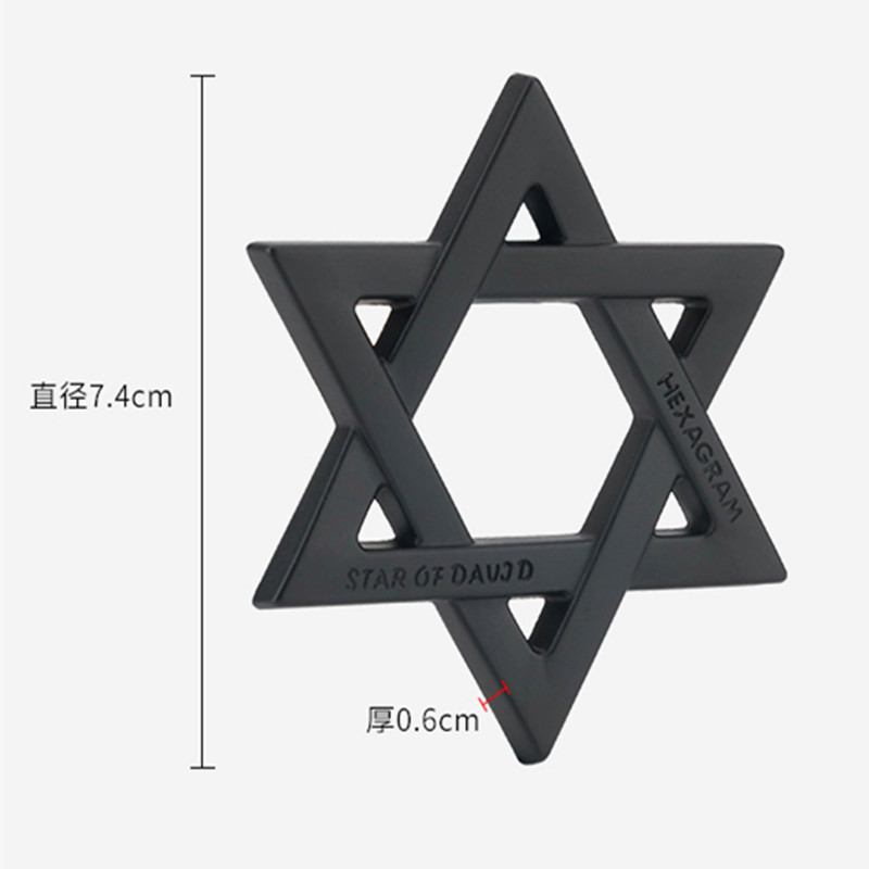 Image 2 - FLYJ 3D Metal Hexagram Star of David Car Stickers Car Styling Accessories for Israel Car Sticker-in Car Stickers from Automobiles & Motorcycles