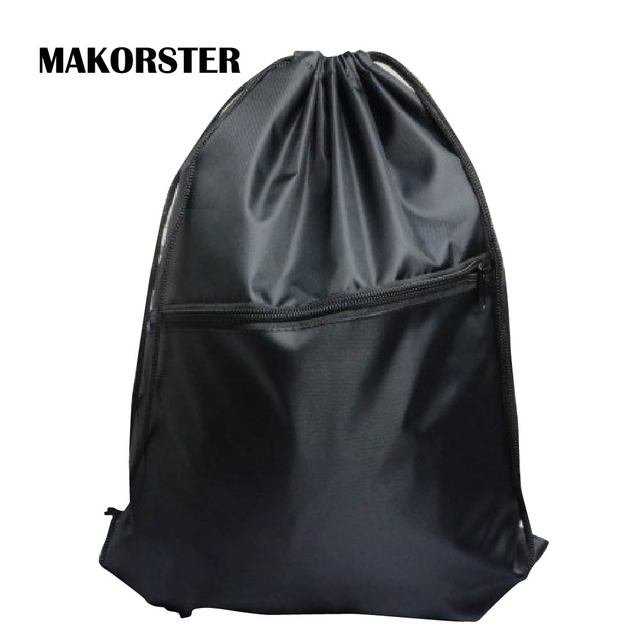 Makorster Waterproof Famous Brand Backpack Beach Drawstring Bag Solid Backpacks For Women Nylon Mk253