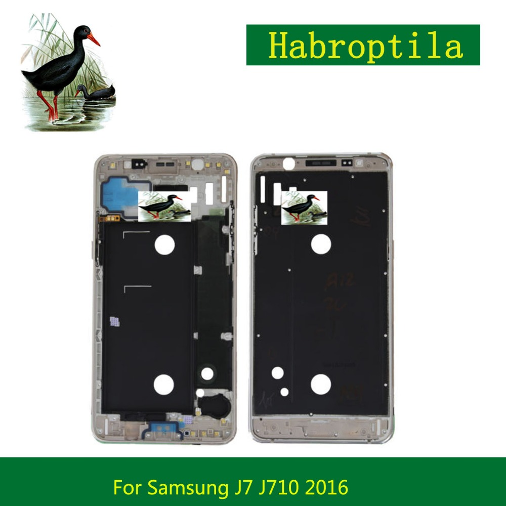 Replacement For Samsung Galaxy J7 J710 2016 Front Frame Front Housing LCD Screen Plate Bezel Repair Parts