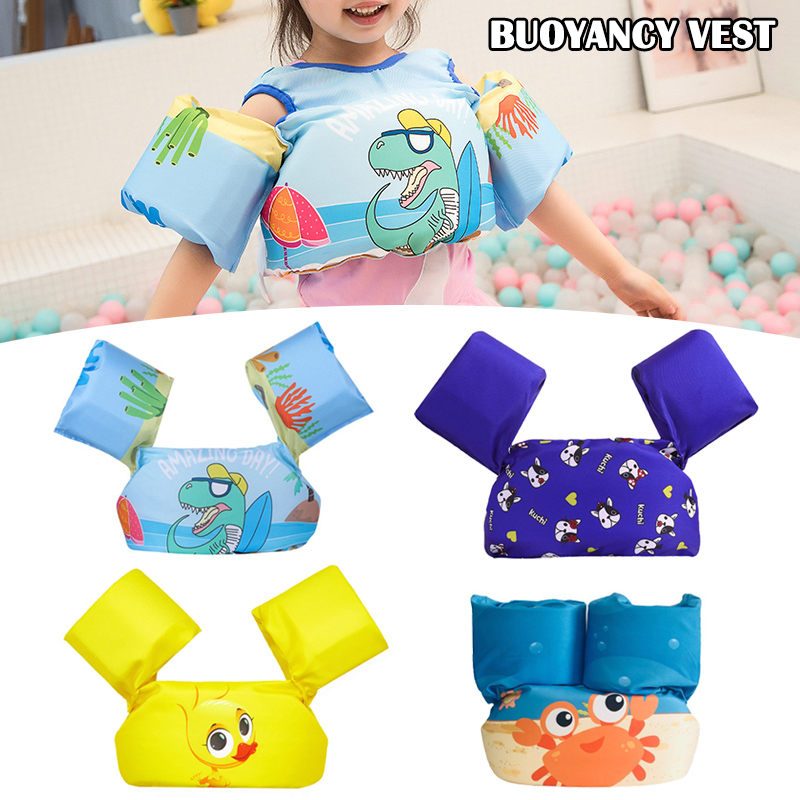 Kids Swimming Life Jacket Buoyancy Vest Baby Arm Foam Drifting Floating Swim Aid BM88