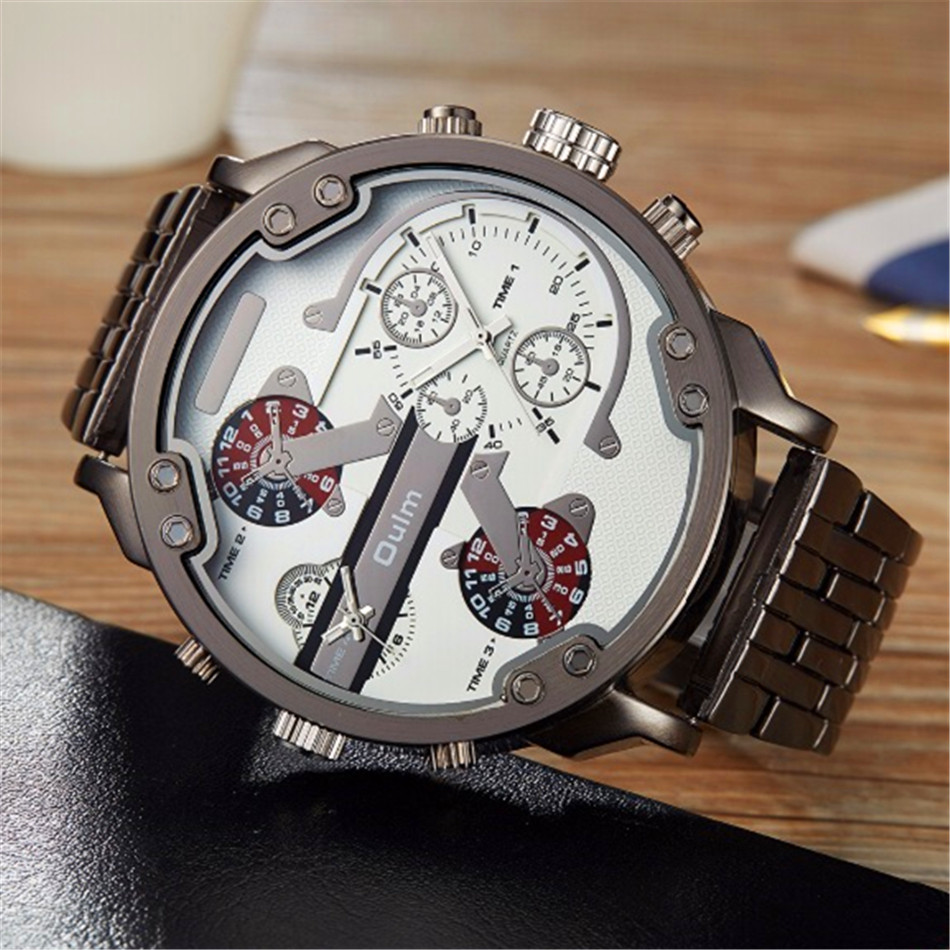 2017 OULM Watches Mens Quartz Watch Top Brand Cool Man s Fashion Clock Japanese Movement Stainless