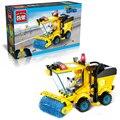 Enlighten 1101 ciudad construcción apisonadora tractor camión barredora 102 unids bloques de construcción para niños juguetes para niños