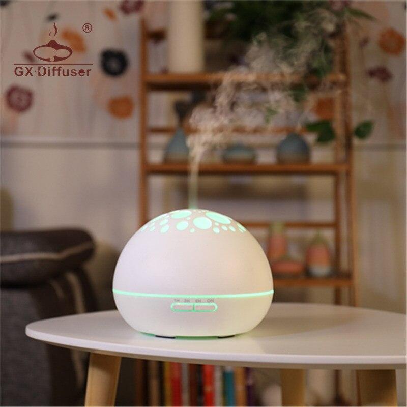 GX. Diffuser 7 LED noche luz difusor eléctrico del Aroma difusor aromaterapia humidificador ultrasonido aceite esencial Aroma difusor para Yoga