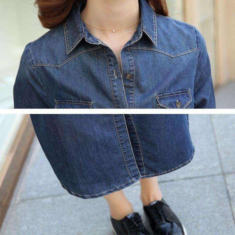 Denim 2018 Robes Coton Longue Scission Unique À Femmes Poitrine Femelle Mince Robe Manches Jeans Blue Hs241 Longues Cowboy Printemps ZFIwAqn