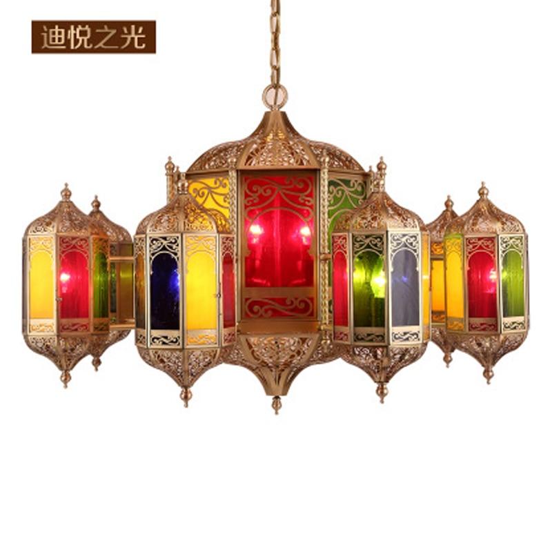 2018 Muslim style pendant lights custom church copper kitchen lights hanging lamp luxury modern lighting for villa restaurant