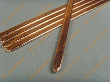 5 шт./лот, теплопроводная труба для ноутбука DIY 80*8*3 мм, компьютерная тепловая труба, медная трубка, плоская тепловая трубка, вентилятор, медна...
