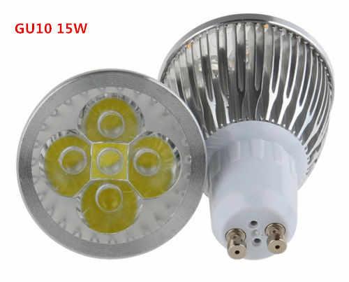 Высокое качество GU10 Светодиодный лампа 9 Вт 12 Вт 15 Вт Светодиодный светильник Светодиодная лампа с регулировкой 110 V 220 V теплая/чисто/холодный белый 60 луч угловой светильник освещения