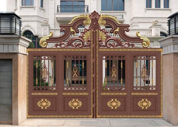 Home aluminium gate design / steel sliding gate / Aluminum fence gate designs hc-ag11