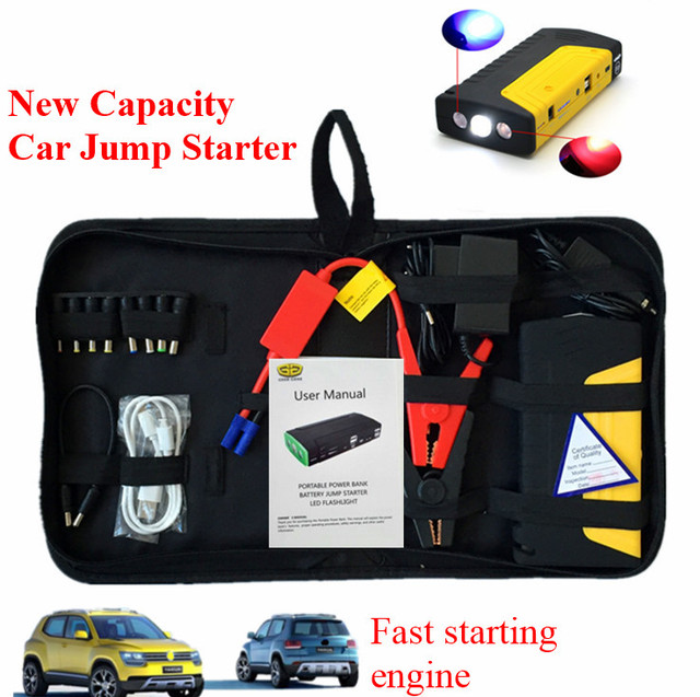 Multi-Function 9000mAh Car 12V Jump Starter Portable 400A Peak Car Battery Booster Starter 2USB Power Bank SOS Lights Free Ship