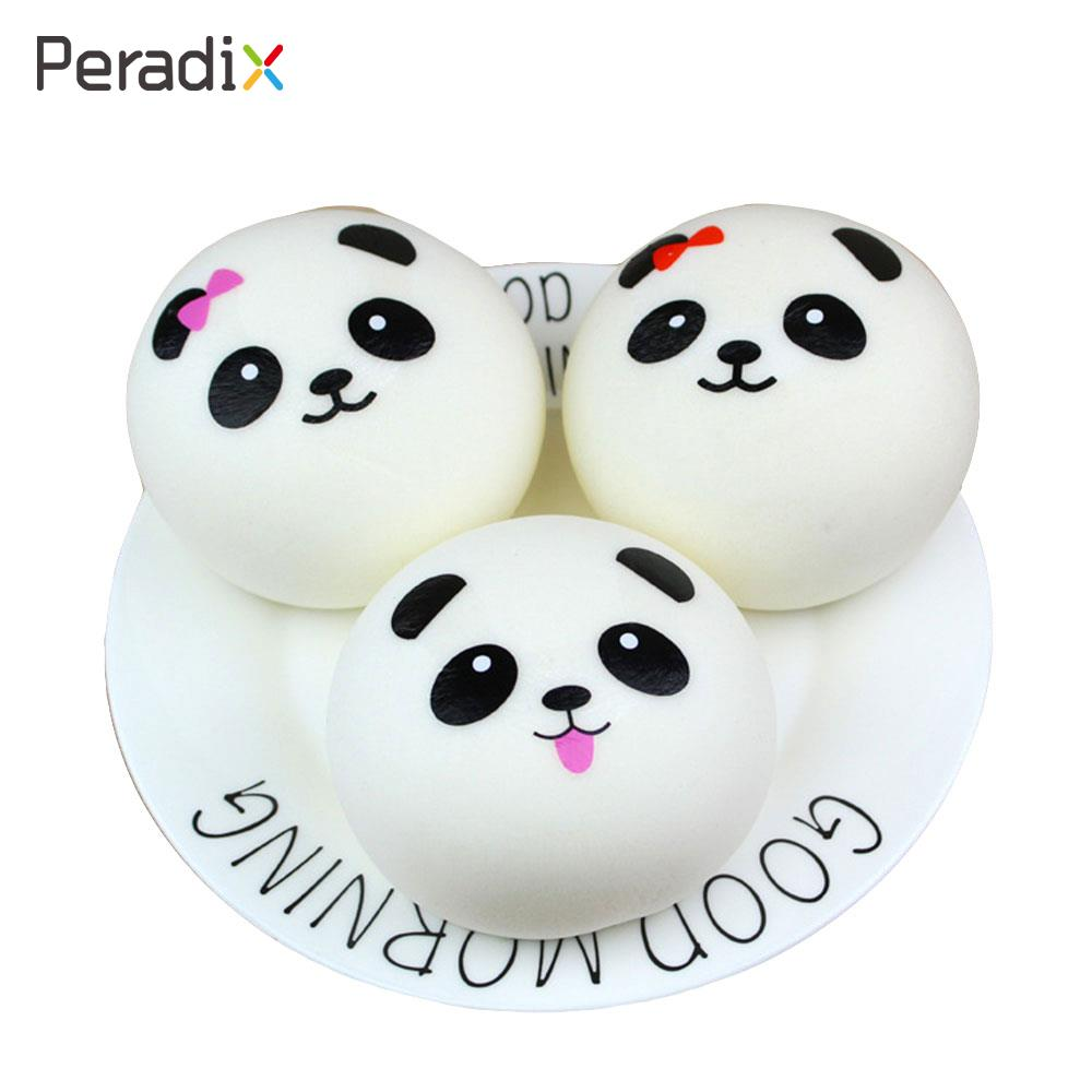 PU Squishy Cell Phone Fun Toy Cute Panda Face Kid Soft Panda Bread Gifts