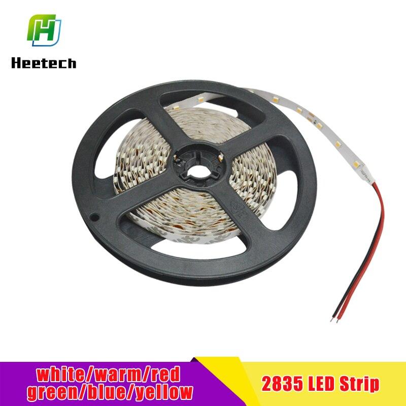 5m LED Strip 2835SMD Flexible Strip LED Lights Lamps RBG Warm Wihte Red Green Blue 12v DC