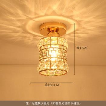 Artpad Modern LED Crystal Ceiling Light for Entrance Corridor Balcony Aisle Decor Surface Mount Square Round Gold Ceiling Lamp 19