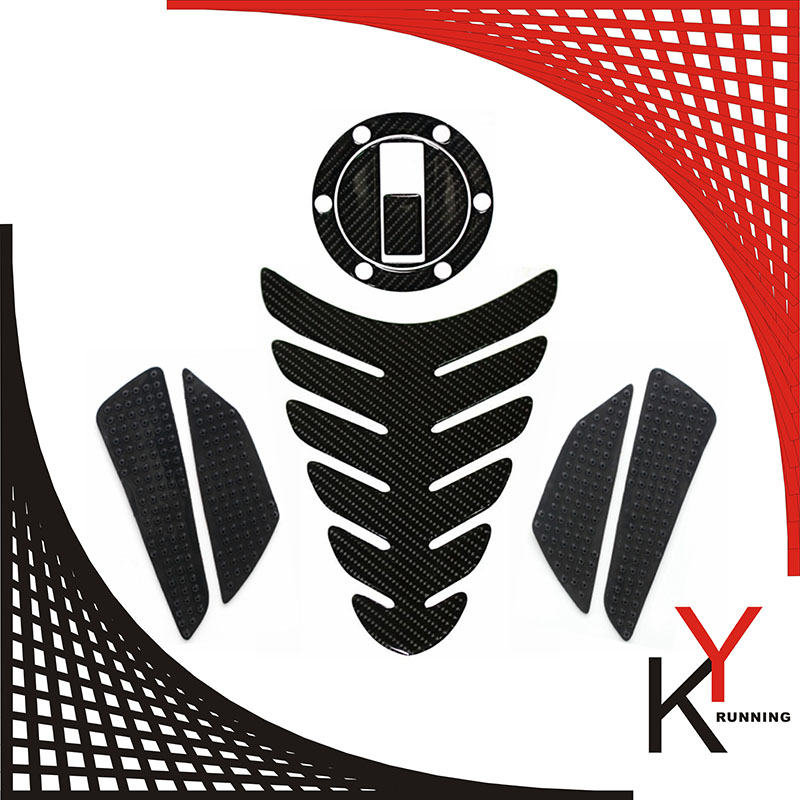 Red//Black Prot/ège R/éservoir Moto Tank Pad Sticker Autocollant Aprilia Shiver