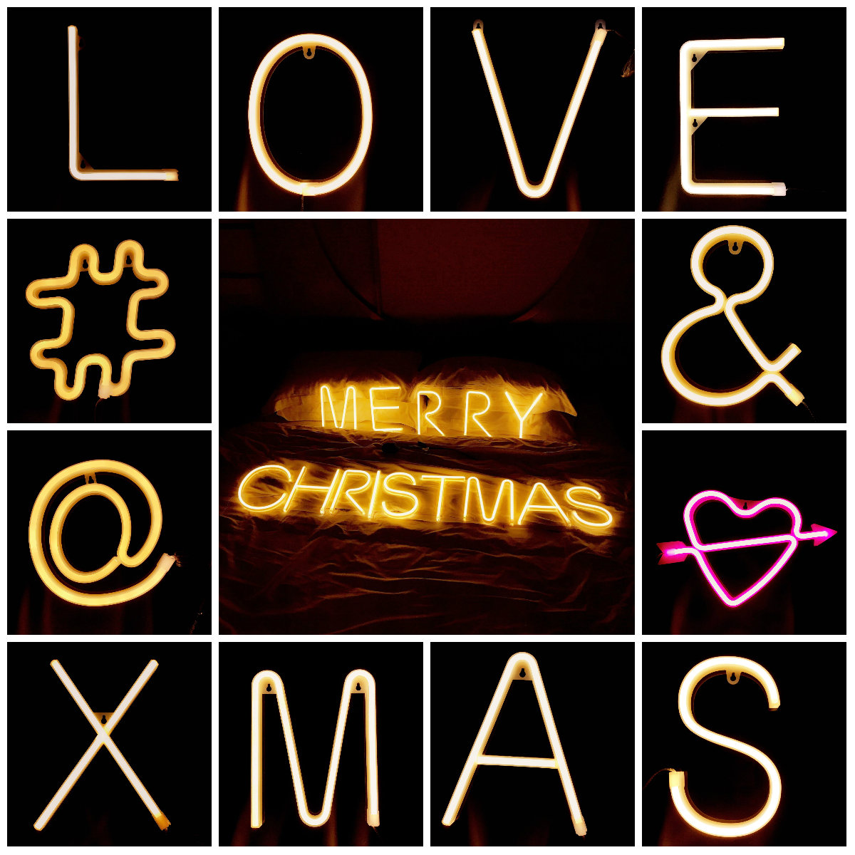 DIY Decorative Night Light Alphabet Propose Nightlight Indoor Wall Lamp Wedding Holiday Event Concert XMAX LED Gift IY304131