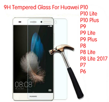 9H Tempered Glass Screen Protector Film Foil For Huawei P9 Lite P9 Plus P8 Lite 2017 P7 P6 P10 Plus P10 Lite Glass Protection