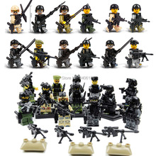 12 PZ compatible LegoINGlys military WW2 army Special forces war Building Blocks mini soldier figures bricks toys for children