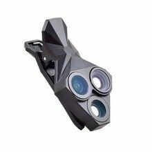 3 в 1 Профессиональный HD Объектив Камеры Kit 160 Градусов Рыбий Глаз Плюс 0.65x супер широкоугольный объектив плюс 20x макро-объектив для iphone xiaomi