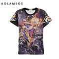 Mens 3D T Shirt  Star James Durant Kobe Bryant Printing Tee Round Neck Short Sleeved Tops Tees Sporting Tshirts Homme S-XXL