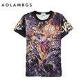 Mens Impresión 3D T Shirt Estrella Kobe Bryant James Durant camiseta de Manga Corta Cuello Redondo Tops Camisetas Deportivas Camisetas Homme S-XXL