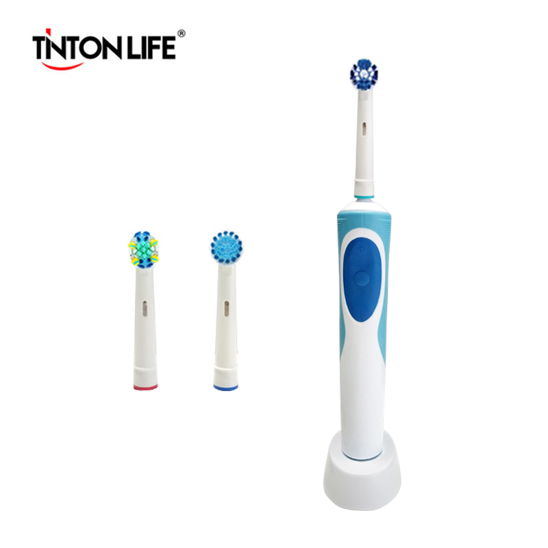 TINTON LIFE Toothbrush Rechargeable Rotate Electric Toothbrush Ultrasonic Toothbrush Inductive Charging D12 2pcs philips sonicare replacement e series electric toothbrush head with cap