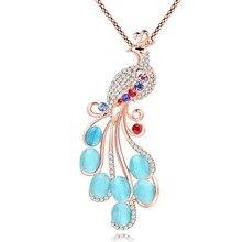 Peacock Zinc Alloy Long Pendant Jewelry for Women
