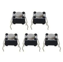 5 piezas interruptor Micro del ratón para Logitech M185 M215 G300 G402 G602 M570 6x6x4,3mm