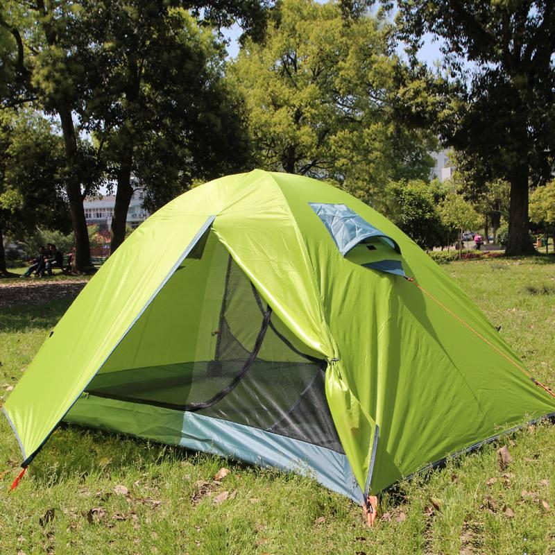 SGODDE extérieur Double ultra-léger PU2000M Anti-pluie tente Double couche professionnel 190 T polyester Camping équitation tente sauvage