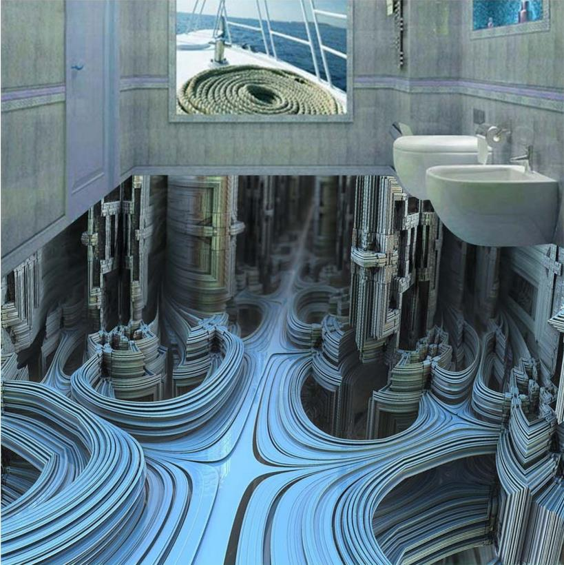 ФОТО Creative bathroom kitchen flooring vinyl pvc custom photo floor adhesive waterproof pvc flooring murals