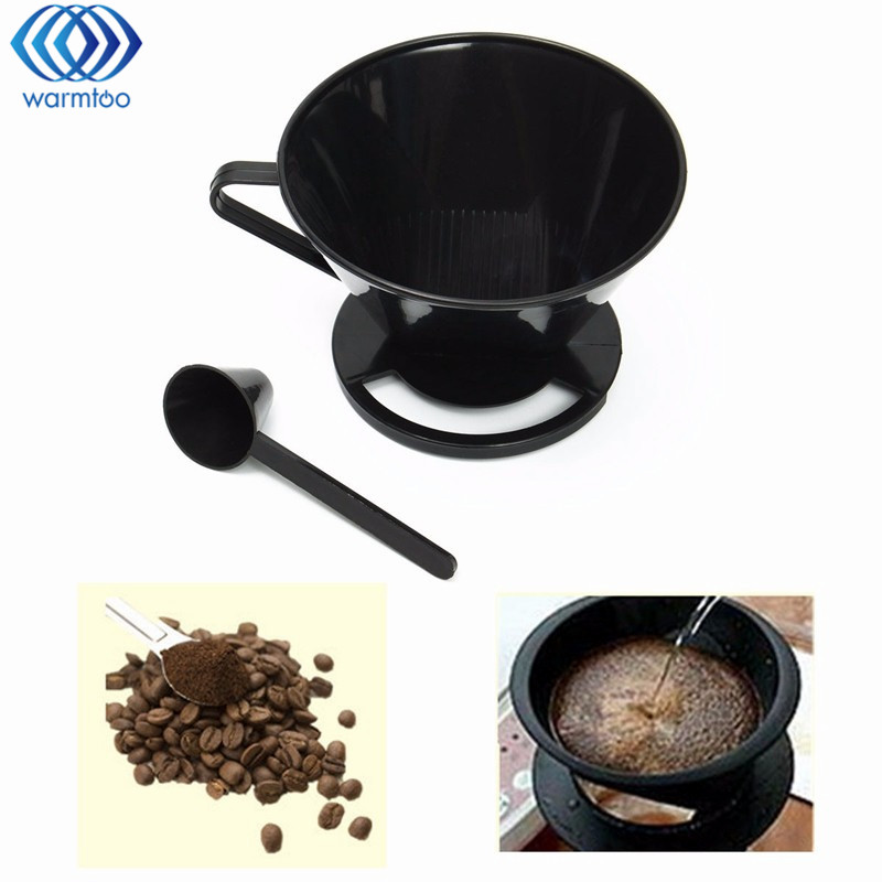 Coffee Filter Cup Reusable Cone-Style Drip Dripper Follicular Brewer Filter Practical Coffee Plastic Cup Tools Accessories drip smart coffee cup filter coffee cup manual cup clever dripper pot coffee dripper with cup cover gift for coffee lover