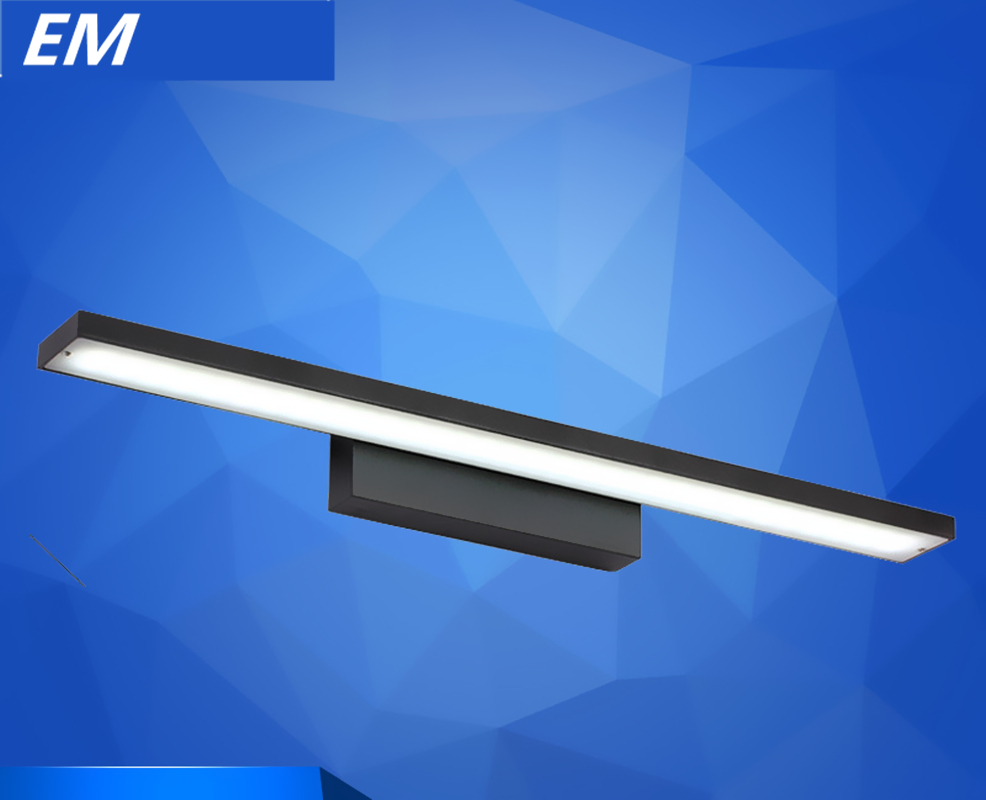 Modern bedside wall lamps - Black Modern Brief Led Mirror Light Bathroom 80cm Lamp Bedside Wall Lamp Personality Wall Sconce Reading