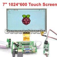 Raspberry Pi 7 Inch 1024*600 TFT LCD Resistive Display Monitor Touch Screen with Driver Board HDMI VGA 2AV