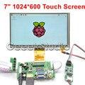 Raspberry Pi 7 Polegada 1024*600 TFT Lcd Monitor de Tela Sensível Ao Toque com Placa Motorista HDMI VGA 2AV