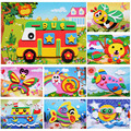 13*17CM EVA DIY Adhesive Stickers 3D Kids Educational Toys For Younger Children Handmade Art Craft Materials Early Education